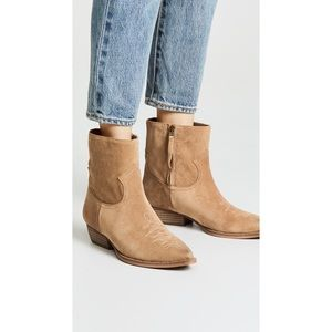 SAM EDELMAN  •  Ava Western Ankle Boots